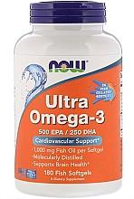 Parfumuri și produse cosmetice Acizi grași Omega-3, capsule de gelatină - Now Foods Ultra Omega-3 500 EPA/250 DHA Fish Softgels