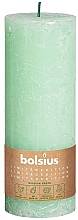 Parfumuri și produse cosmetice Lumânare cilindrică, verde, 190x68 mm - Bolsius