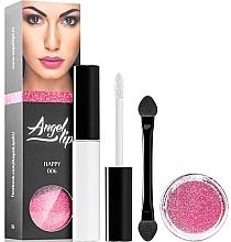 Parfumuri și produse cosmetice Set - Di Angelo Angel Lips (base/4ml + glitter/3g) (002 –Seductive)