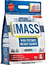 "Parfumuri și produse cosmetice Gainer cu eficacitate mare ""Căpșună"" - Applied Nutrition Critical Mass High Potency Weight Gainer Strawberry"