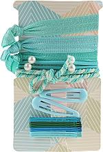 Parfumuri și produse cosmetice Set accesorii pentru păr, albastru-verde - Avon