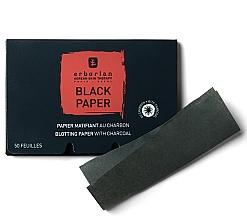 Parfumuri și produse cosmetice Șervețele negre matifiante pe bază de cărbune - Erborian Blotting Paper With Charcoal