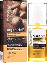 """Parfumuri și produse cosmetice Ulei de păr """"Restaurare și protecție"""" cu ulei de argan și keratină - Dr. Sante Argan Hair"""