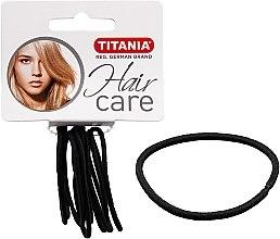 Parfumuri și produse cosmetice Elastice pentru păr, 9 buc., negre, 2 mm - Titania