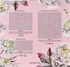 Bi-es Blossom Garden - Set (sh/gel/200ml + b/balm/50ml + h/cr/50ml)Set pensule pentru machiaj, T092, 15buc — Imagine N2