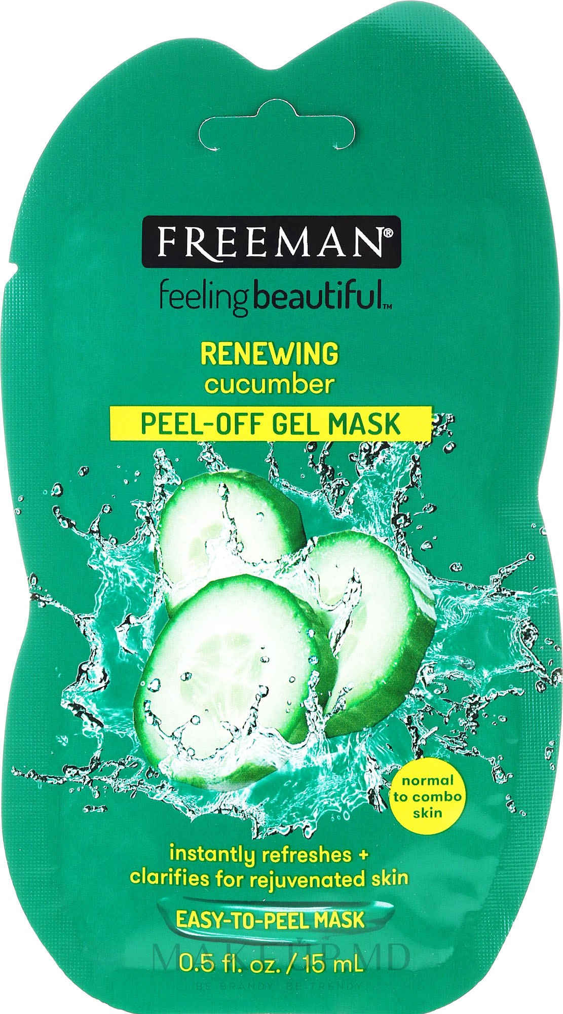 Mască de faţă cu extract din castravete - Freeman Feeling Beautiful Facial Peel-Off Mask Cucumber (miniatură) — Imagine 15 ml