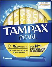 Parfumuri și produse cosmetice Тампоны с аппликатором, 18шт - Tampax Pearl Regular