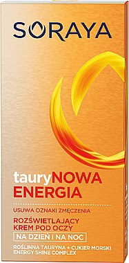 Cremă pentru conturul ochilor - Soraya Taurine Energy Illuminating Eye Cream Reducing Signs Of Fatigue — Imagine N1