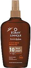 Parfumuri și produse cosmetice Ulei cu protecție solară pentru corp - Ecran Sunnique Sunscreen Silky Oil Spf10