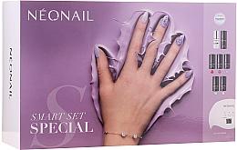 Parfumuri și produse cosmetice Set - NeoNail Professional First Step Smart Set (led/lamp + base/7.2ml + top/7.2ml + nail/polish/5x3ml + remover/50ml + nail/file + nail/cleaner/50ml)