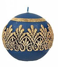 Parfumuri și produse cosmetice Lumânare decorativă, bilă, albastră, 10 cm - Artman Koronka Lace Christmas