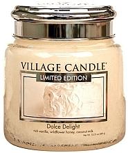 """Parfumuri și produse cosmetice Lumânare parfumată într-un borcan """"Sweet Delight"""" - Village Candle Dolce Delight"""