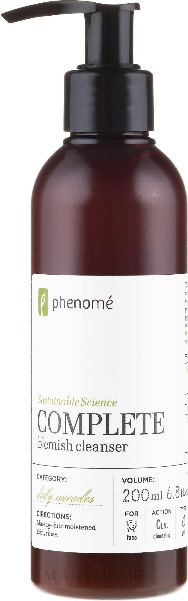 Gel de curățare pentru față - Phenome Complete Blemish Cleanser — Imagine 200 ml