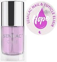 Parfumuri și produse cosmetice Ulei pentru unghii și cuticule - Semilac Care Nail & Cuticle Elixir Hope