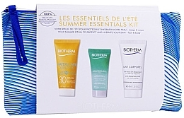 Parfumuri și produse cosmetice Set - Biotherm Summer Essentials Kit (milk/40ml + gel/20ml + b/milk/40ml + pouch)