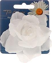 """Parfumuri și produse cosmetice Clamă pentru păr """"White Collection"""" 26188, floare, albă - Top Choice"""