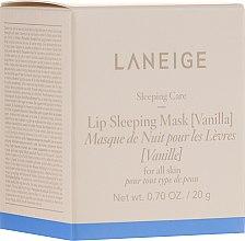 """Parfumuri și produse cosmetice Mască regenerantă de noapte pentru buze """"Vanilie"""" - Laneige Sleeping Care Lip Sleeping Mask Vanilla"""