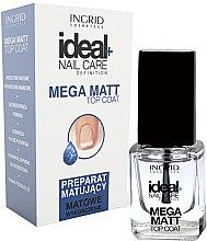 Parfumuri și produse cosmetice Acoperire mată pentru unghii - Ingrid Cosmetics Ideal+ Nail Care Definition Mega Matt Top Coat