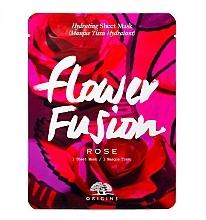 Parfumuri și produse cosmetice Mască hidratantă din țesătură cu trandafir pentru față - Origins Flower Fusion Rose Hydrating Sheet Mask