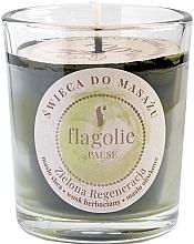 """Parfumuri și produse cosmetice Lumânare de masaj """"Revitalizantă, verde"""" - Flagolie Green Regeneration Massage Candle (mini)"""