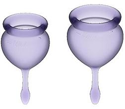 Духи, Парфюмерия, косметика Набор менструальных чаш, фиолетовый - Satisfyer Feel Good Menstrual Cups Lila