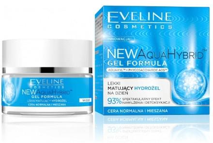 Gel hidratant pentru pielea normală și combinată - Eveline Cosmetics Aqua Hybrid Gel Formula — Imagine N1