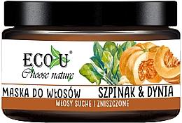 """Parfumuri și produse cosmetice Mască de păr """"Dovleac și spanac"""" - Eco U Pumpkins And Spinach Mask"""
