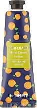 """Parfumuri și produse cosmetice Cremă parfumată pentru mâini """"Caise"""" - The Saem Perfumed Apricot Hand Cream"""