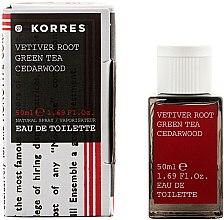 Parfumuri și produse cosmetice Korres Vetiver Root Green Tea Cedarwood - Apă de toaletă
