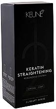 Духи, Парфюмерия, косметика Лечащая система кератинового выпремления - Keune Keratin Straightening Rebonding System Strong