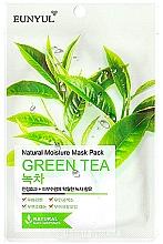 Parfumuri și produse cosmetice Mască de țesut cu extract de ceai verde - Eunyul Natural Moisture Mask Pack Green Tea