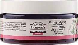 """Parfumuri și produse cosmetice Scrub cu zahăr """"Muscat Rose și ceai verde"""" - Green Pharmacy"""