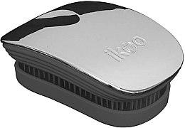 Parfumuri și produse cosmetice Perie de păr - Ikoo Pocket Oyster Metallic Black