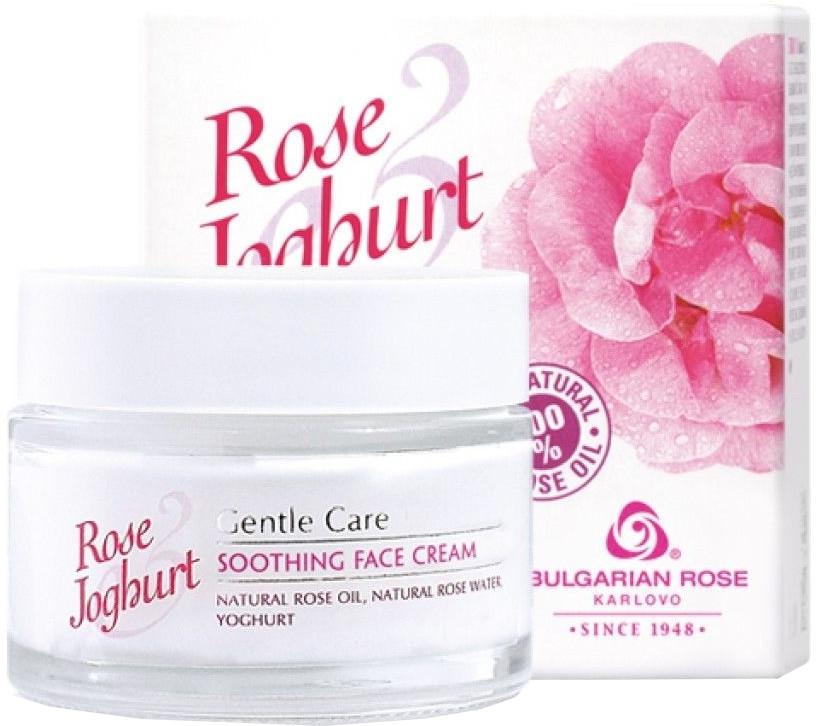 Crema calmantă de față - Bulgarian Rose Rose & Joghurt Soothing Face Cream — Imagine N1