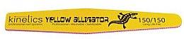 Parfumuri și produse cosmetice Pilă de unghii - Kinetics Yellow Alligator 150/150