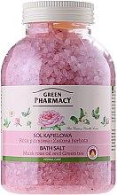 """Parfumuri și produse cosmetice Sare de baie """"Muscat Rose și ceai verde"""" - Green Pharmacy"""