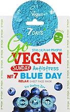"""Parfumuri și produse cosmetice Mască de față """"Nr.7 Blue day"""" - 7 Days Go Vegan Sunday Blue Day"""