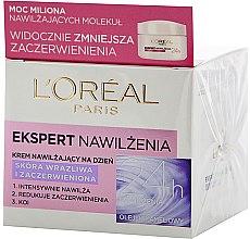 """Parfumuri și produse cosmetice Cremă de față """"Expert de hidratare"""" pentru pielea sensibilă și iritată - L'Oreal Paris Ekspert Face Cream"""