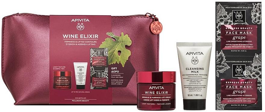 Set - Apivita Wine Elixir Cream Light Texture (cream/50ml + milk/50ml + mask/2x8ml) — Imagine N2