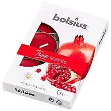 """Parfumuri și produse cosmetice Lumânare aromatică """"Rodie"""" - Bolsius Scented Tea Light Candles True Scents Pomegranate"""
