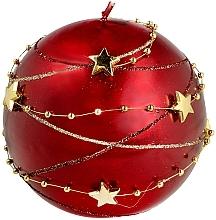 """Parfumuri și produse cosmetice Lumânare decorativă """"Christmas ball"""", 8cm, roșie - Artman Garland Decorative Christmas Medium Ball Candle Dark Red"""