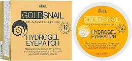 Parfumuri și produse cosmetice Patch-uri hidrogel cu mucină de melc și aur - Ekel Ample Hydrogel Eyepatch