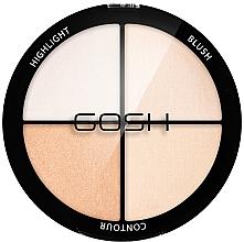 Parfumuri și produse cosmetice Paletă pentru counturing - Gosh Copenhagen Strobe'n Glow