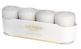 Parfumuri și produse cosmetice Set lumânări decorative, mate cu argint - Artman Candles (candle/4pcs)