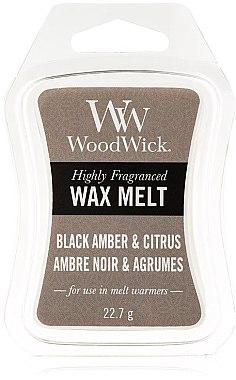 Ceară aromatică - WoodWick Wax Melt Black Amber & Citrus — Imagine N1