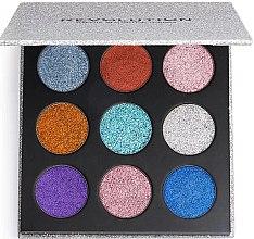Parfumuri și produse cosmetice Paletă de machiaj - Makeup Revolution Pressed Glitter Palette Illusion