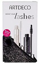Parfumuri și produse cosmetice Artdeco Angel Eyes (mascara/10ml+booster/10ml+bag) - Set