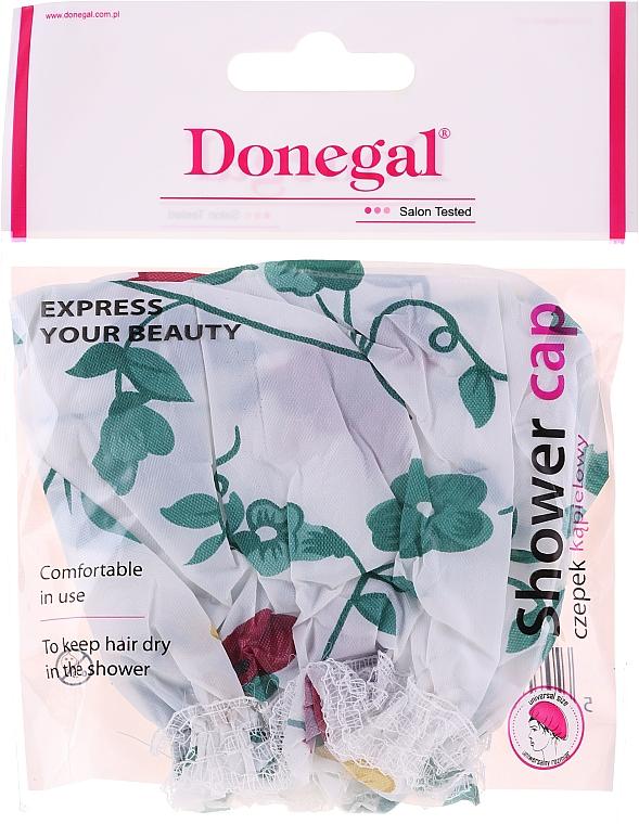 Cască de duș, 9298, flori verzi - Donegal Shower Cap — Imagine N1