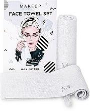 """Parfumuri și produse cosmetice Set de prosoape de față, pentru călătorii, albe """"MakeTravel"""" - Makeup Face Towel Set"""