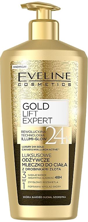 Lapte cu particule de aur pentru corp - Eveline Cosmetics Gold Lift Expert 24K